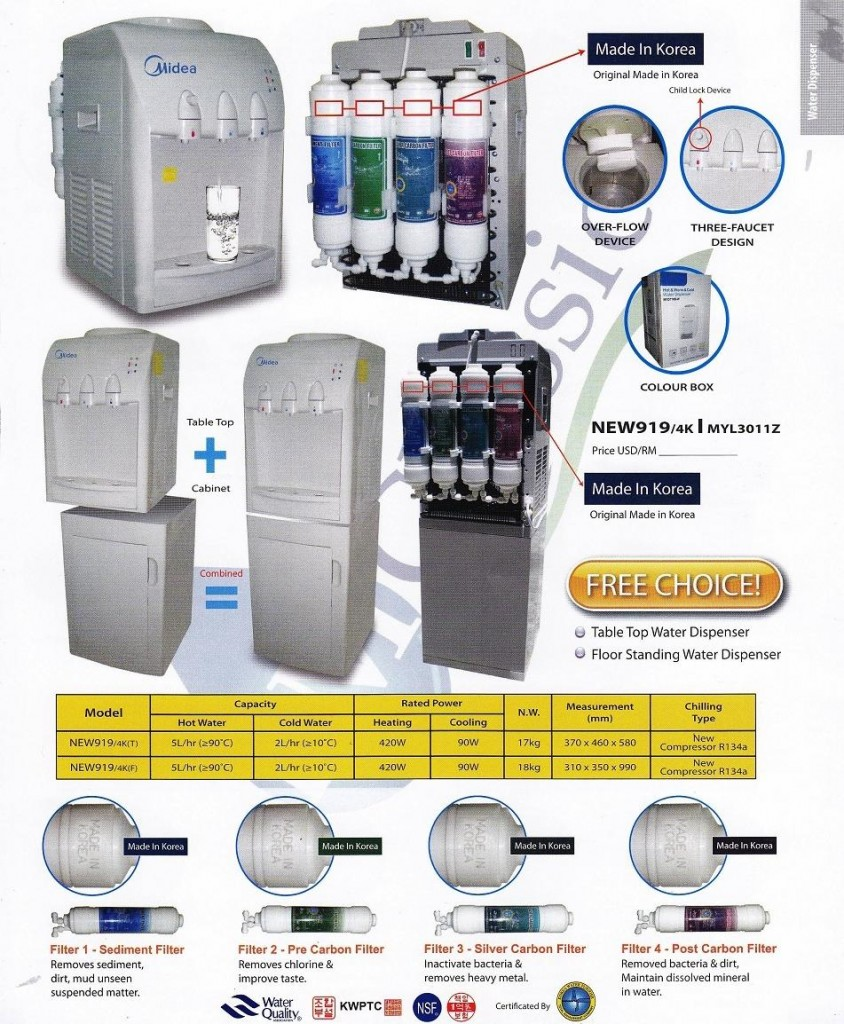 Midea MYL3011 Hot Warm Cold Water Filter Dispenser For Home And Office www.ck.com.my