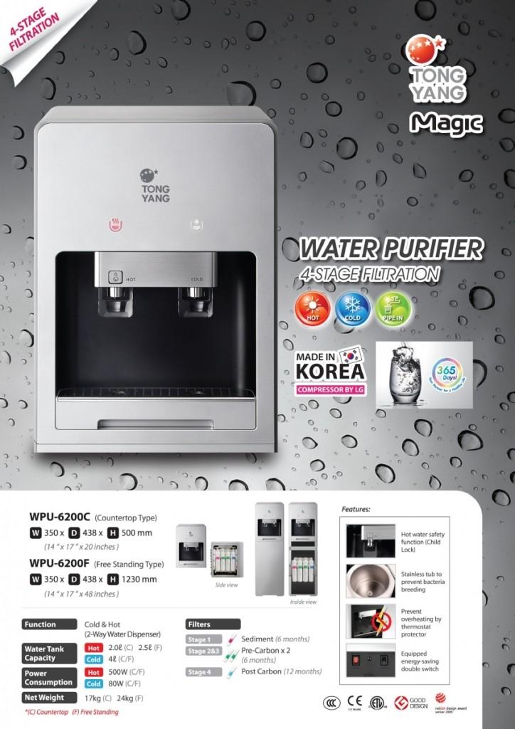 Tong Yang WPU6200c Korea Hot and Cold Water Dispenser Filter